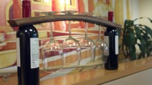 """Mary"" ~ 4 Glass 2 Bottle Wine Stave Caddy"